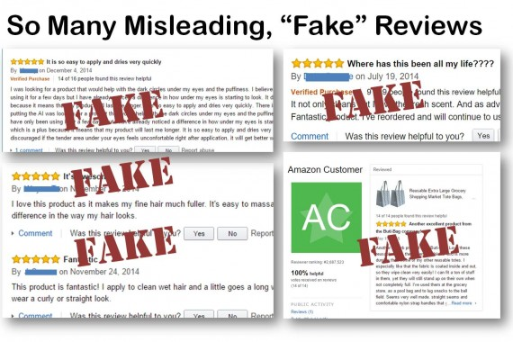 So Many Fake Misleading Reviews